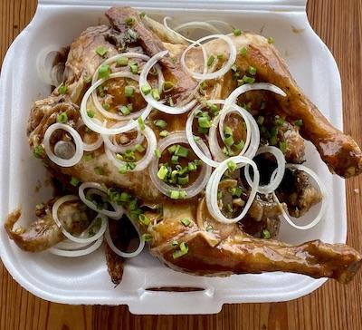 Pollo entero asado en su jugo para 4 personas. Arroz Moro para 4 personas Chips de boniato para 4 personas 1 pomo de refresco… View Details